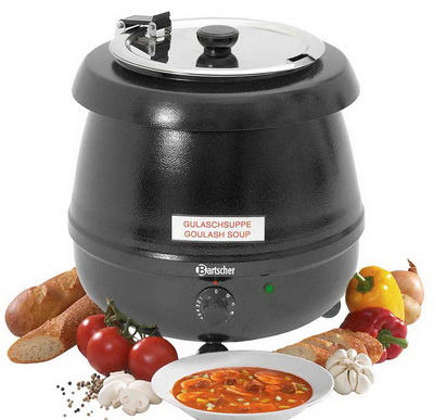 Party electrically heated pot